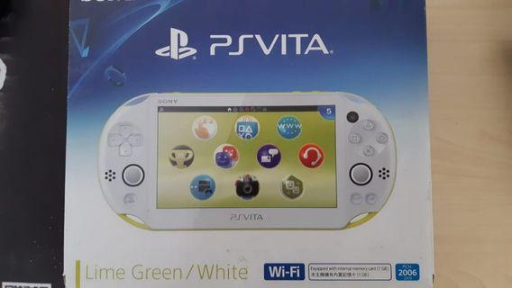 Ps Vita Lime Green + Games