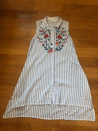 Zara embroidered top/dress