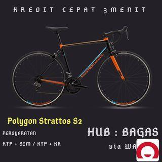 Sepeda Polygon Strattos S2 cicilan tanpa kartu kredit