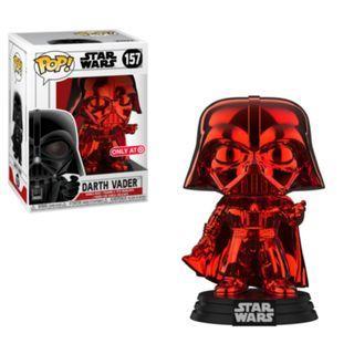 Funko POP! Star Wars: Red Chrome Darth Vader Target Exclusive #157