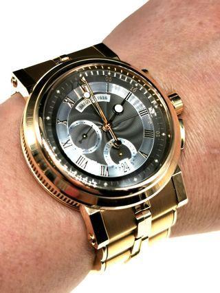 Full 18k rose gold Breguet Marine Chronograph Automatic