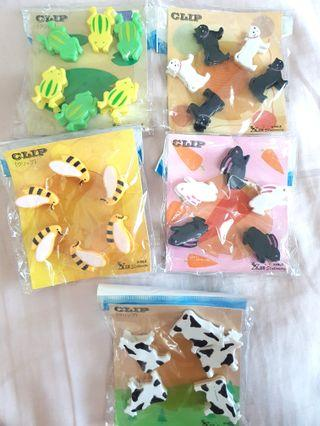 Animal Paper Clips (Plastic)