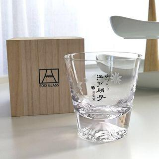 日本威士忌 櫻花 威士忌 玻璃杯 帶字連木盒 (響、山崎、知多、白州、余市)