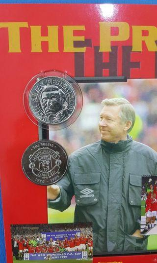 Treble Champions Medallion Collections 1998/1999 Manchester United man.utd. vintage collector