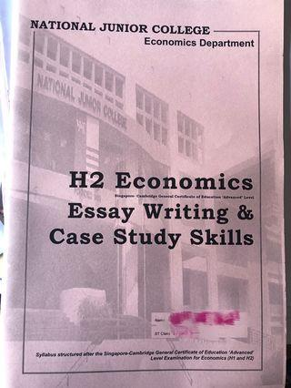 H2 Econs (NJC) essay writing & case study book