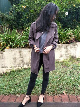 Khaki Green Thin Coat Cardigan