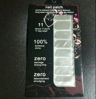 Classy Sliver Soild Nail Stickers Wrap