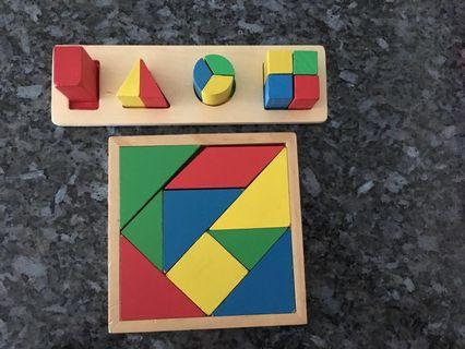 🚚 Wooden Puzzles (Set of 2)