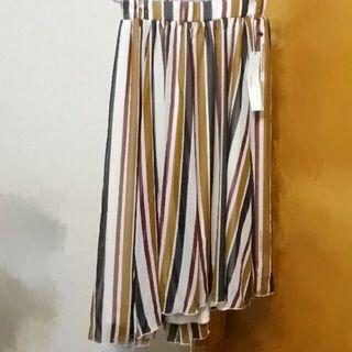Heather 全新條子半截裙 multi colour stripe skirt