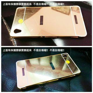 🚚 SONY Z3 金色鏡面手機殼