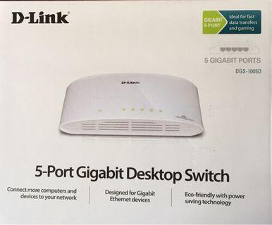 D-Link 5-Port Gigabit Desktop Switch DGS-1005D