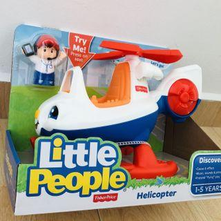 ~Ready Stock~ Fisher-Price Little People Helicopter Plane with Pilot