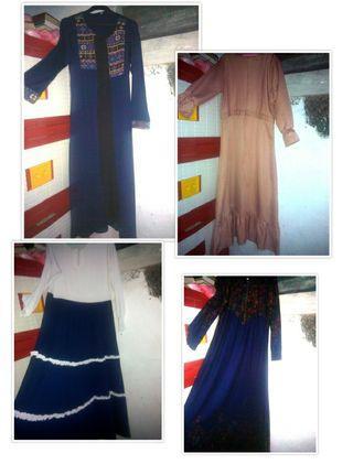 Gamis/ baju muslim/ longdress/ syari/ kekinian