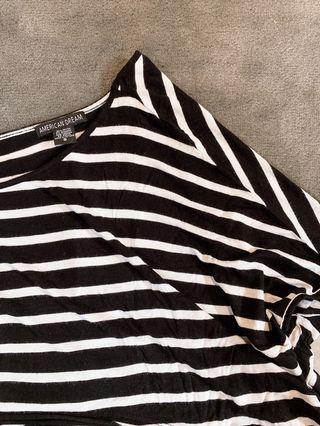B&W Striped Crop Top