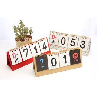 倒數 正數 桌曆 計時台曆 考生必備