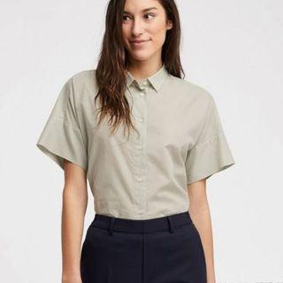 UNIQLO WOMEN Blouse - Soft Cotton Short Sleeve Shirt
