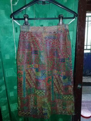 Rok Batik vintage retro 1/4 lucuuu