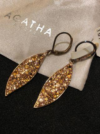 Agatha Paris 水晶耳環 Crystal Long Earrings