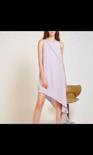 🚚 Love n gold Liliac grey assymetrical dress