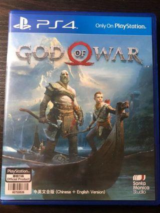 100% 全新未開封 god of war 戰神 sony ps4 初回特典 chinese 中英文合版