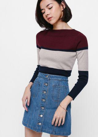 LB Tadia Colourblock Knit Top
