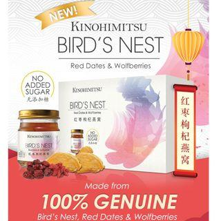 Kinohimitsu BIRD NEST w Red Dates Wolfberries bottle 6s No Sugar Added / Chai Seed Version