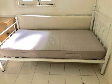 Lovely white wrought iron bed FREE