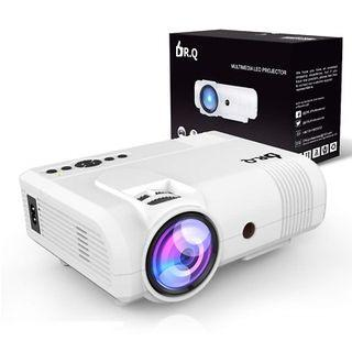 """[HG373] DR.Q 2400 Lumen Projector Mini With 170"""" Display"""