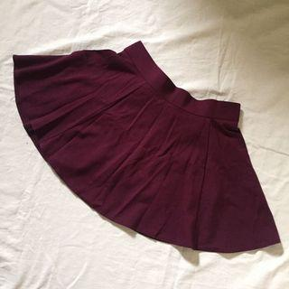 Maroon skater skirt with inner pants