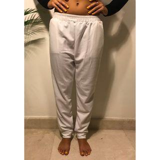 White Sweatpants/ tracksuit bottoms