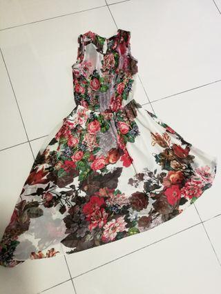 💯 dressing paula asymmetrical floral dress