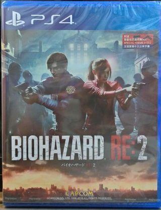 100% 全新未開 biohazard 2 re2 惡靈古堡 re 生化危機 ps4 中英日文版 Resident Evil