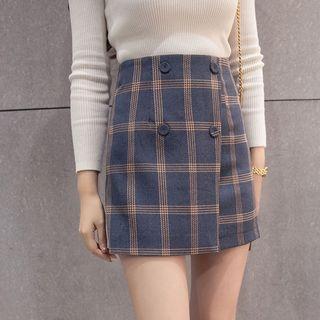 🚚 Plaid High Waist Skirt