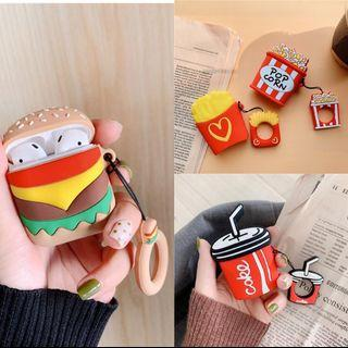🚚 Airpods case (French fries.burger.popcorn.coke)