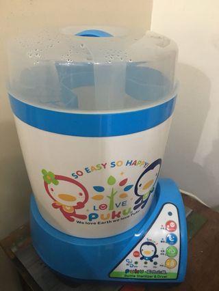 🚚 二手奶瓶🍼消毒鍋 (藍色企鵝)