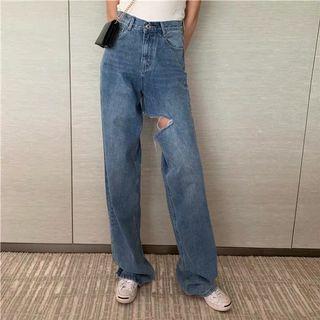 韓國系九分修腿牛仔褲 夏日ins潮款 women jeans