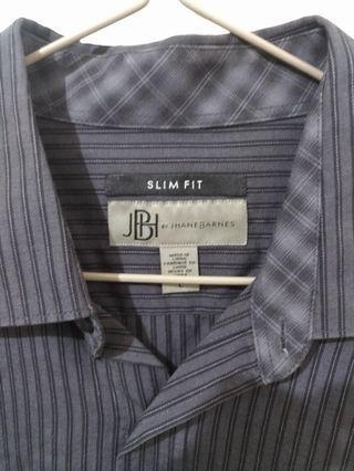 🚚 JBH 灰黑條紋襯衫