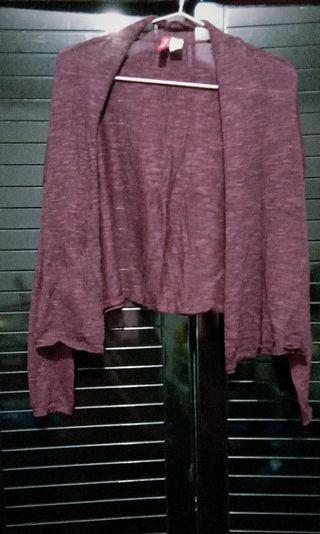 H&M DIVIDED Maroon Knitted Cardigan