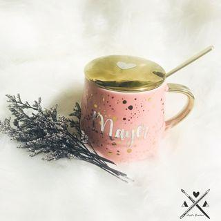 Personalized/Customized Polka Dots Ceramic Mug (with gift box)