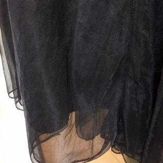 雙層黑色紗裙