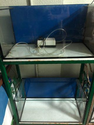 2ft fish tank with stand (Set)