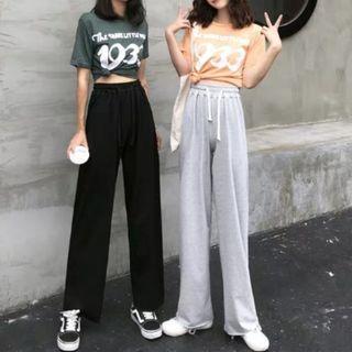 韓國系七分闊腳褲 夏日ins潮款 women jeans