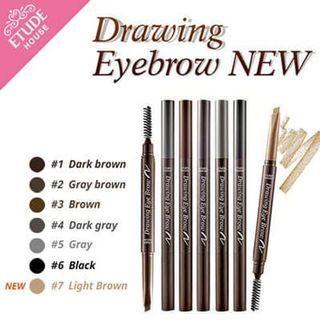 ETUDE HOUSE Drawing Eye Brow NEW Pensil Alis EYEBROW KOREA SIKAT 2IN1