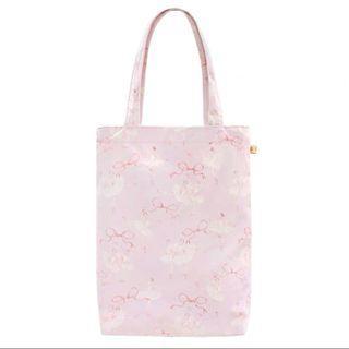 Ballerina clip closure tote bag