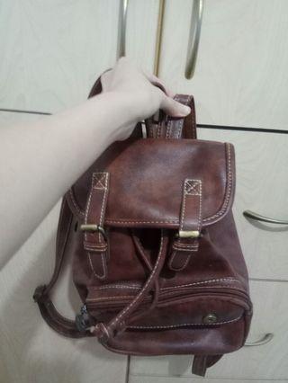 文青啡色背包small brown backpack