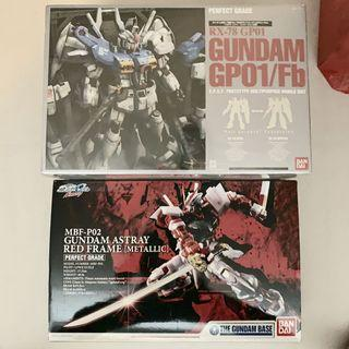 RX-78 GP01/Fb Gundam GP01 Astray Metallic Red Frame PG gundam base