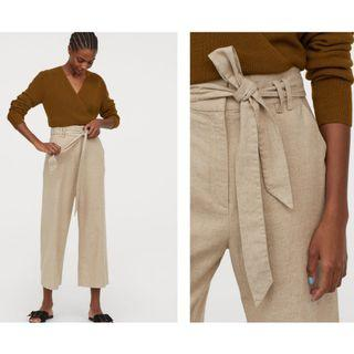 Beige Ankle-length Trousers Pants