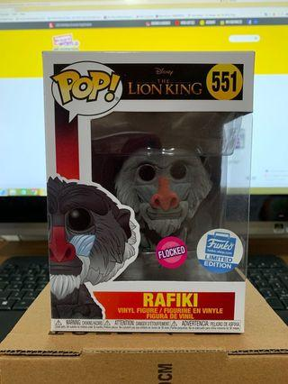 🚚 Funko Pop Disney Lion King - RAFIKI Flocked 551