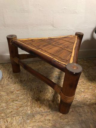 🚚 Triangular Bamboo Table - GSS Sale @ $100 now