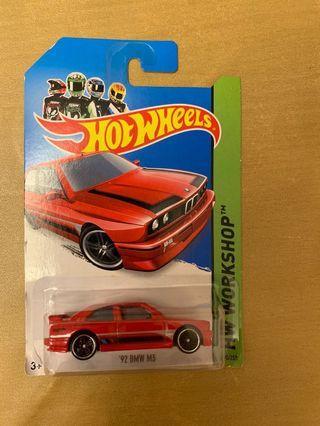全新Hotwheels '92 BMW M3